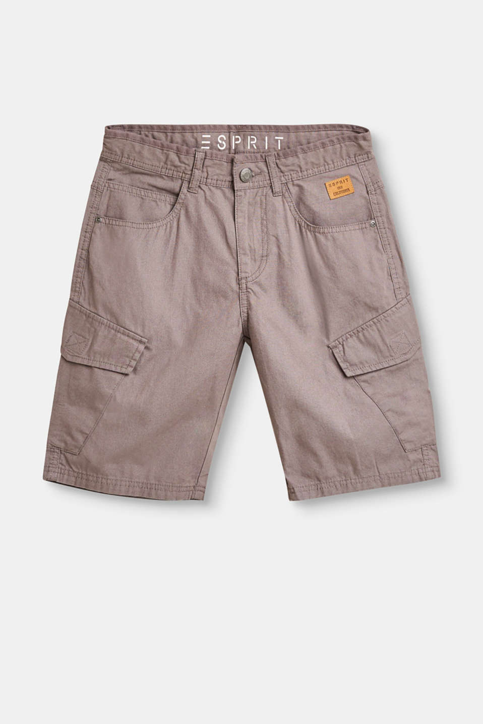 Esprit - Woven cargo shorts in 100% cotton