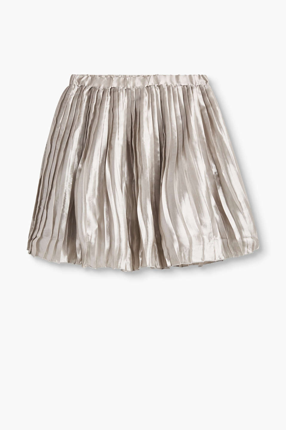 We love lush lustre! Its metallic finish makes this pleated skirt perfect for the party season.
