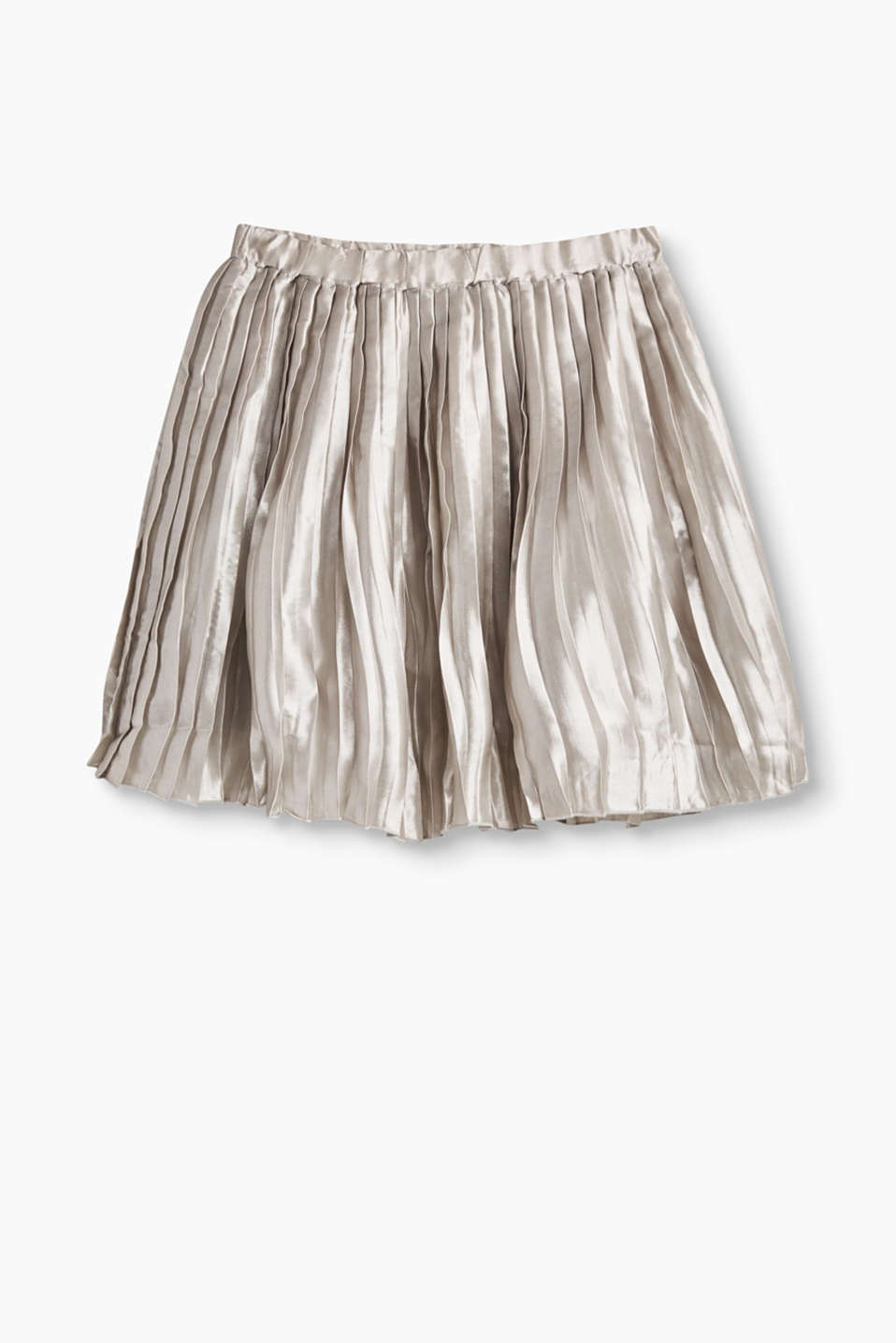 Esprit - Plissérok in coole metallic look