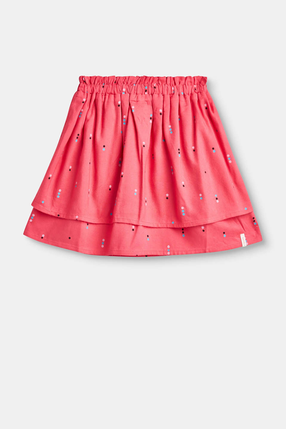 Esprit - Flared skirt with a polka dot print
