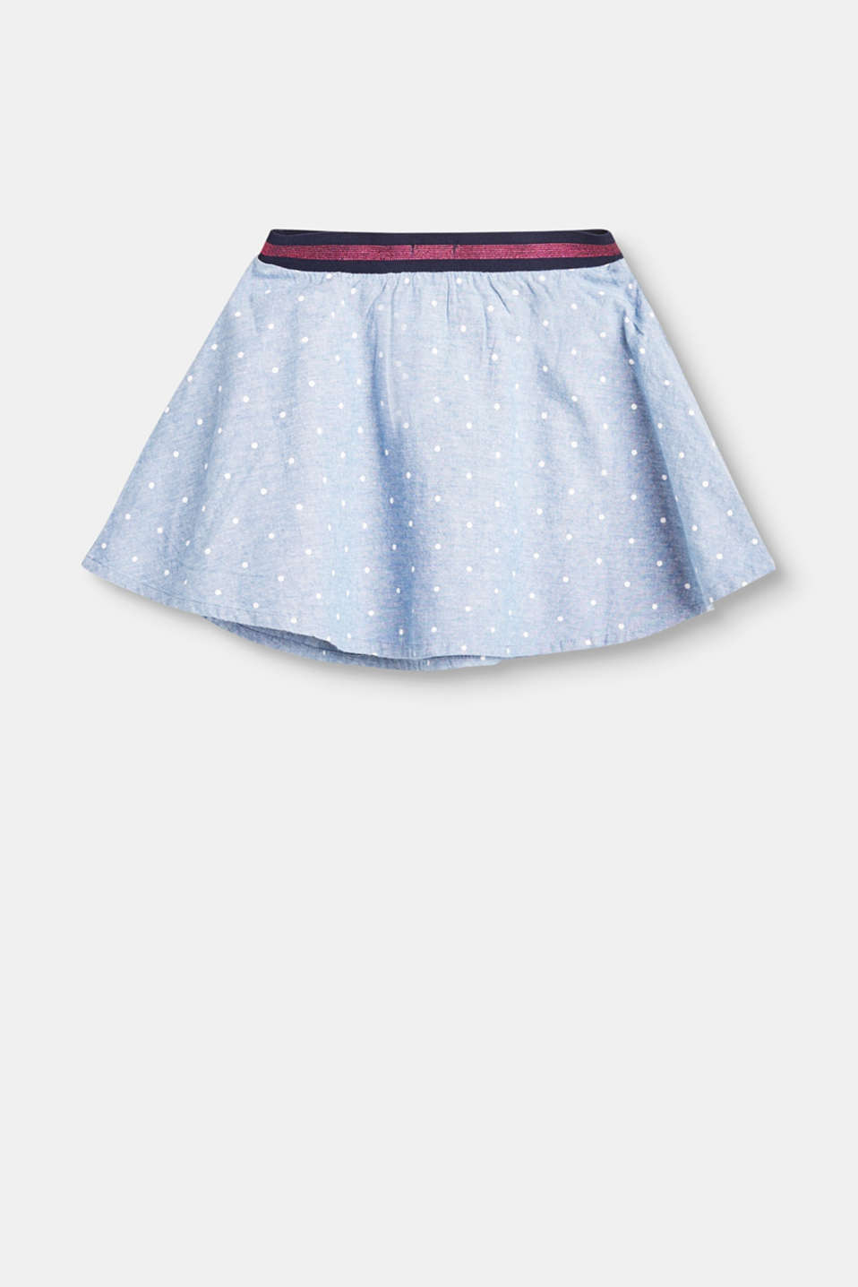 Chambray skirt + glitter waistband