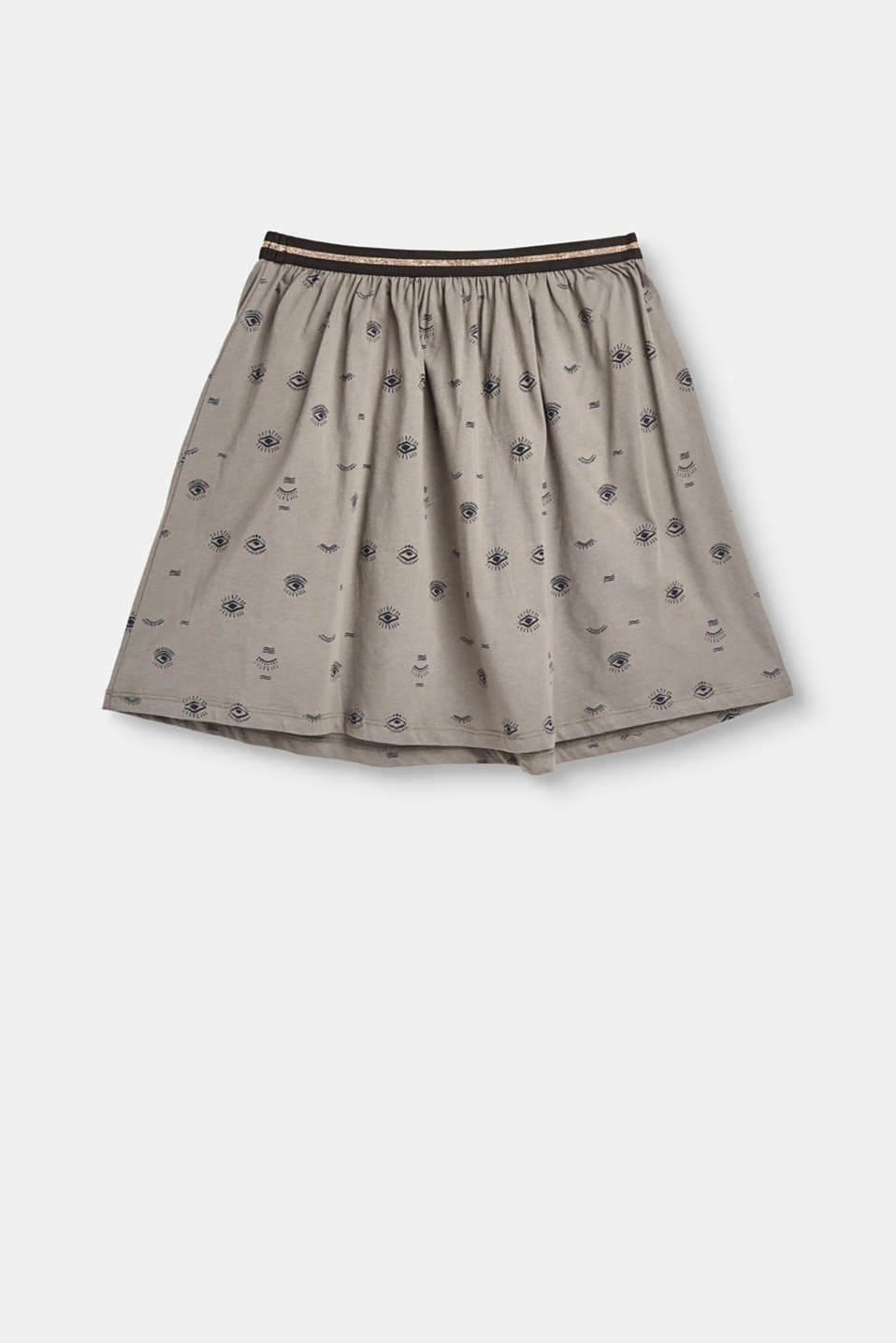 Esprit - Sweatshirt skirt with print, elasticated waist