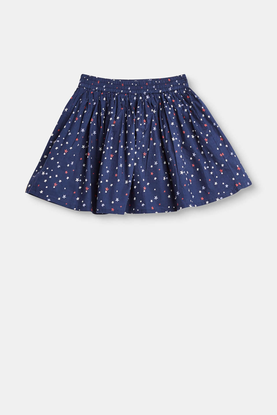 Esprit - Flared printed cotton skirt