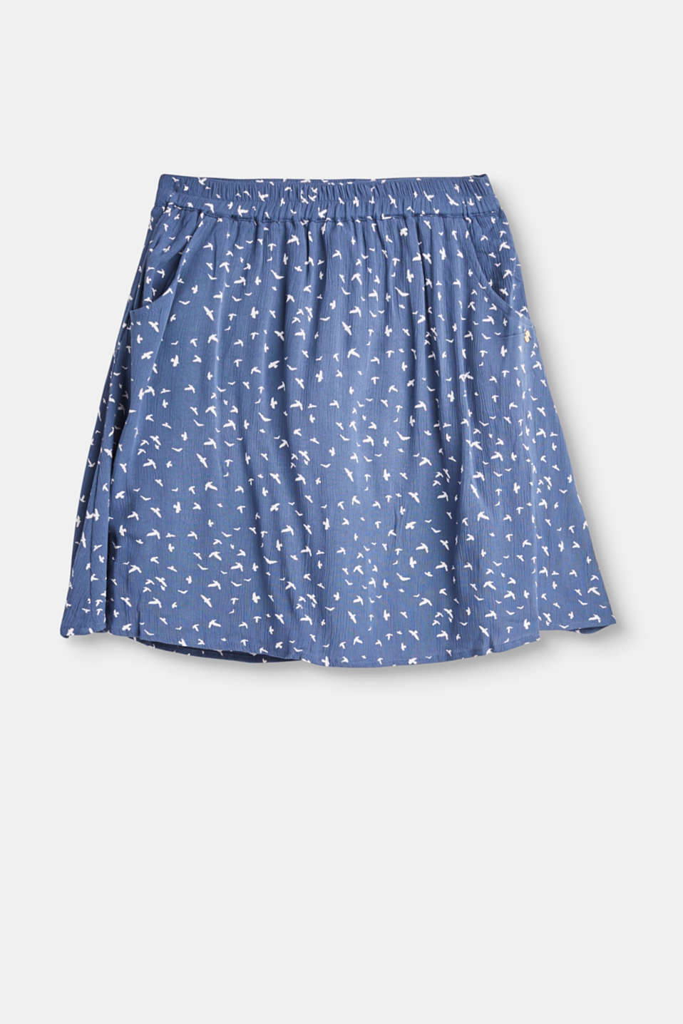 Esprit - Flowing skirt with an all-over print