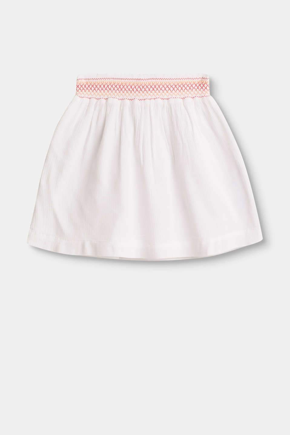 Soft skirt with an embroidered elasticated waistband