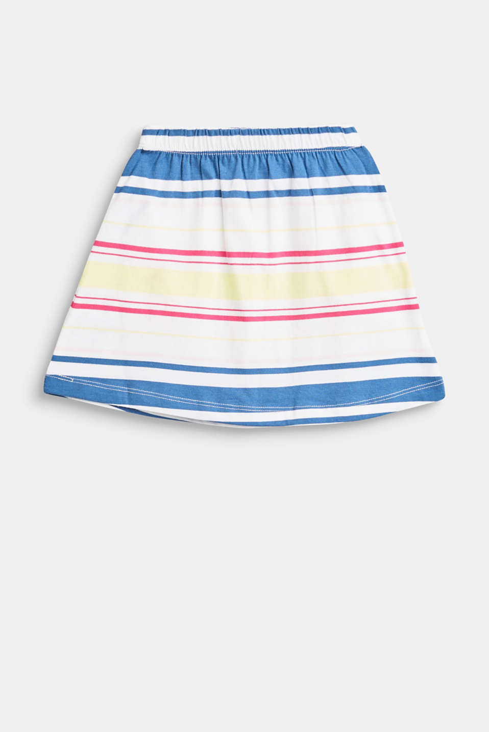 Striped skirt with an elasticated waistband, 100% cotton