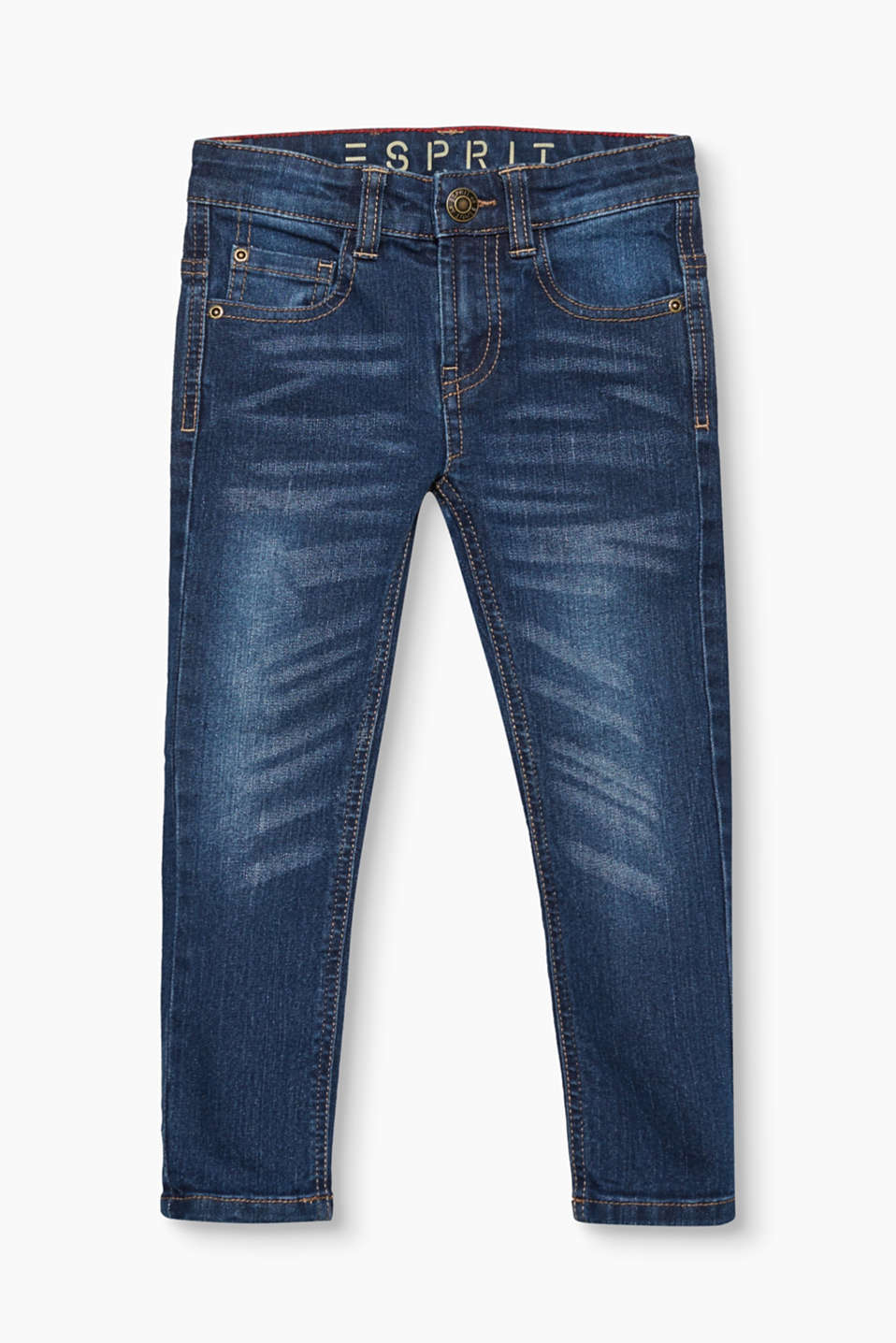 Esprit - Jean en denim stretch à taille ajustable