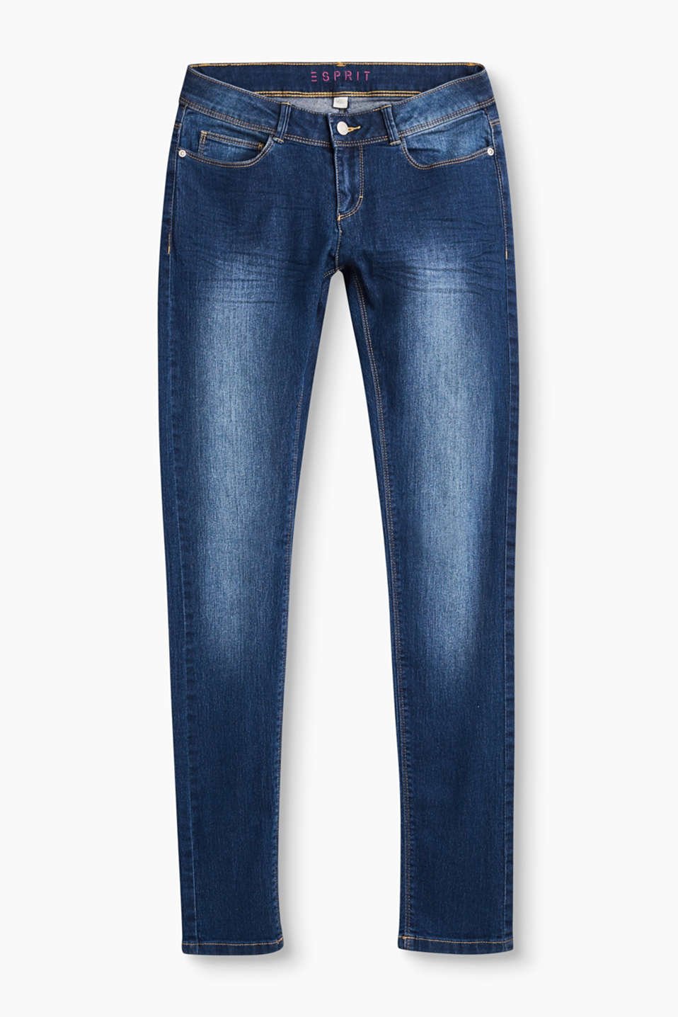 Esprit - Basic Stretch-Denim mit Verstellbund