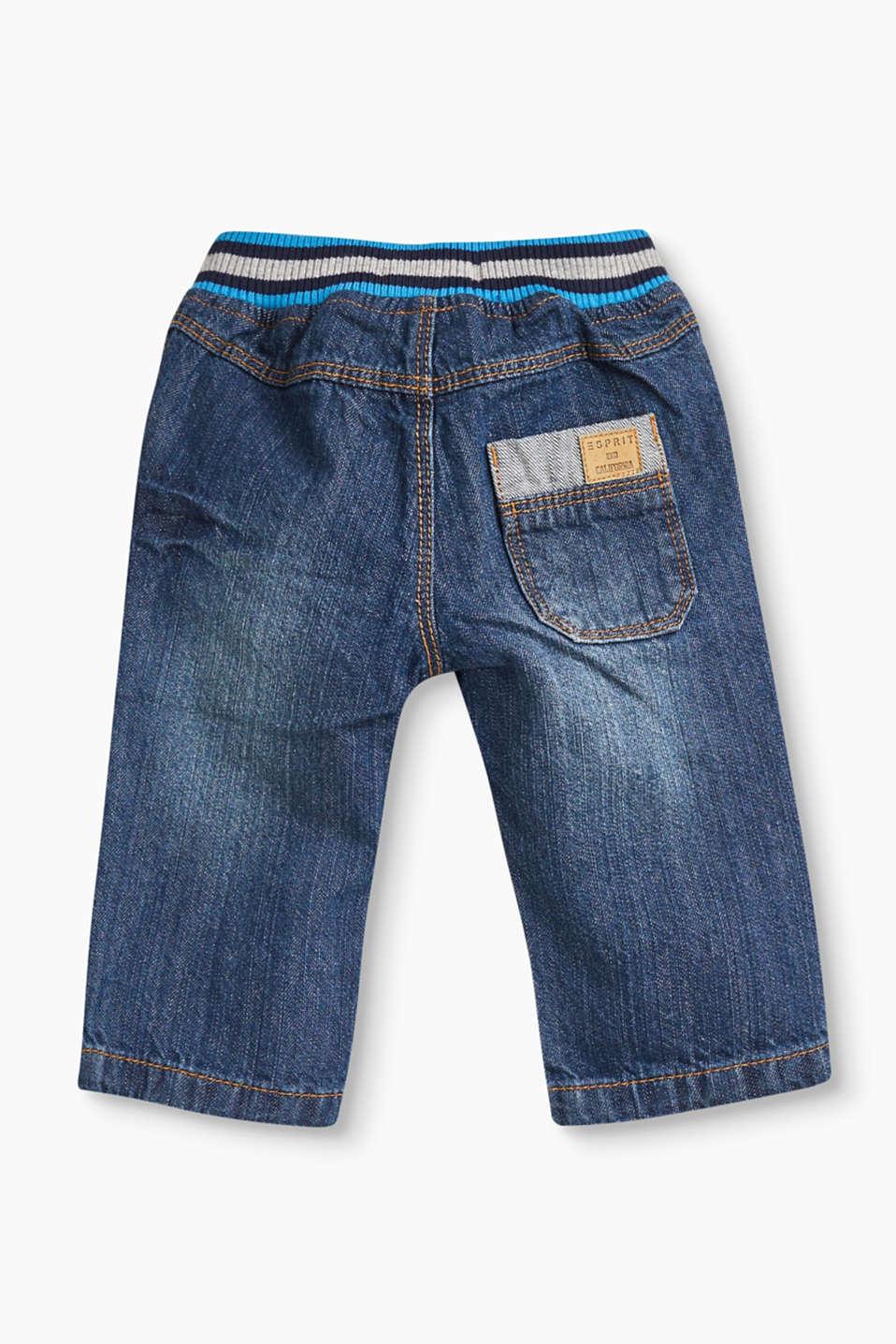 esprit jeans mit rippbund 100 baumwolle im online shop. Black Bedroom Furniture Sets. Home Design Ideas
