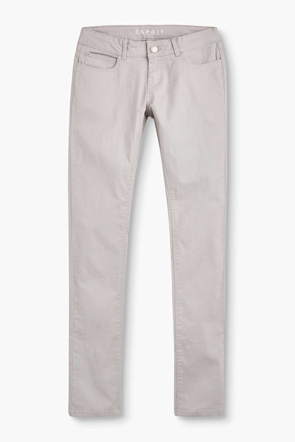 Esprit - Coloured stretchjeans, verstelbare band