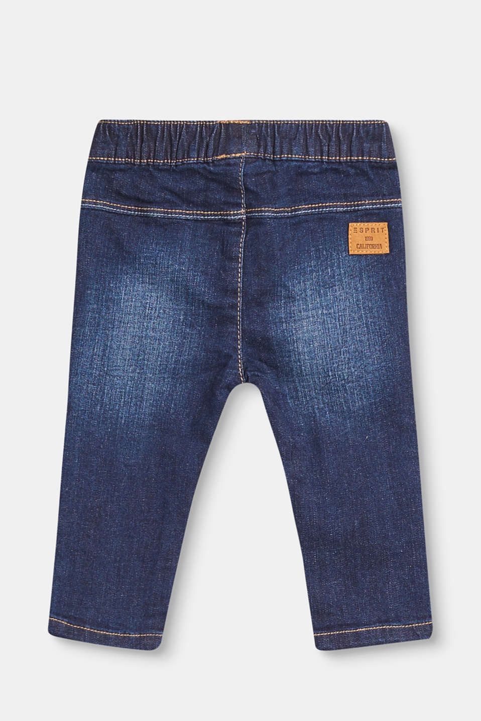 Lightly washed jeans with a stretchy waistband