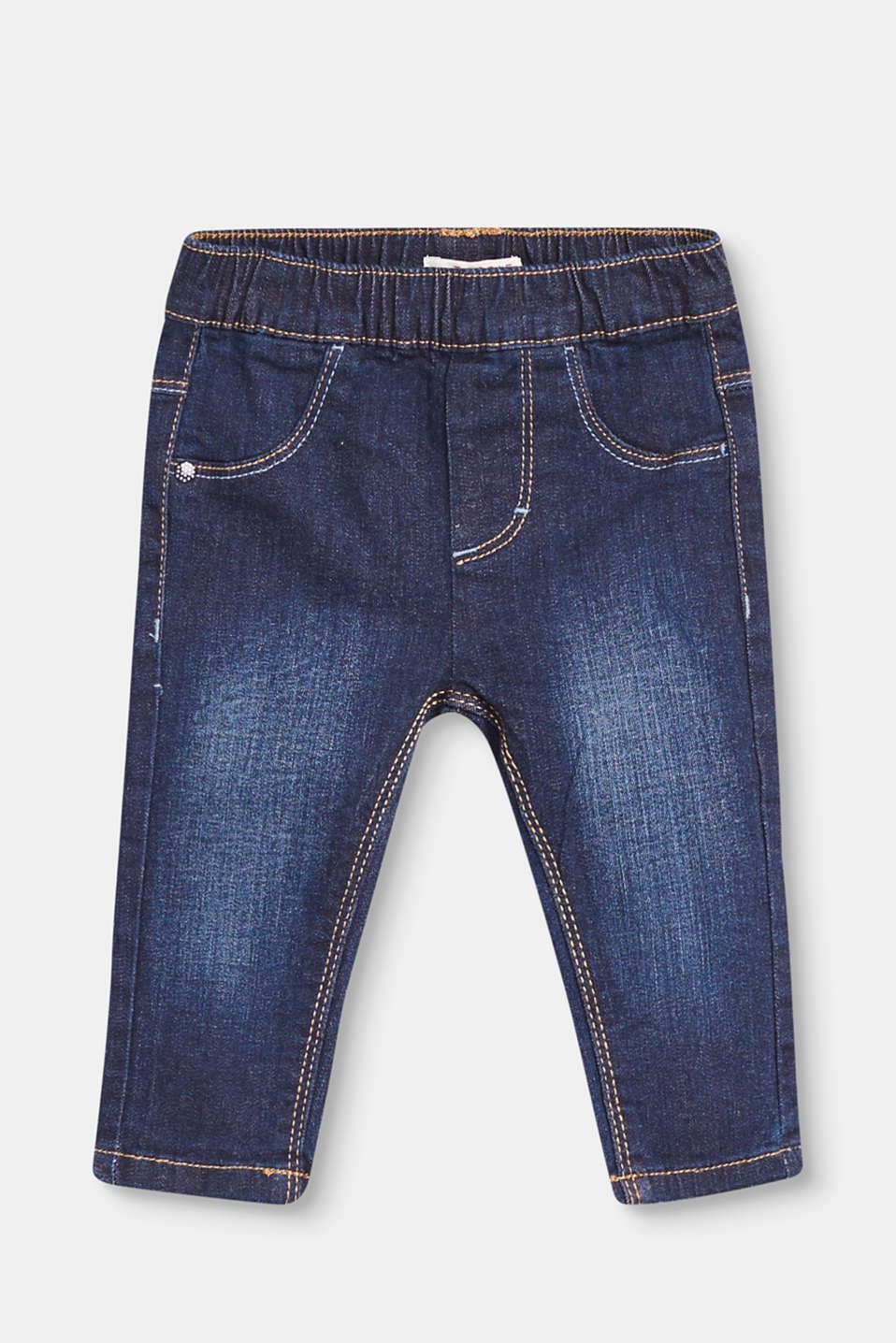 Esprit - Lightly washed jeans with a stretchy waistband