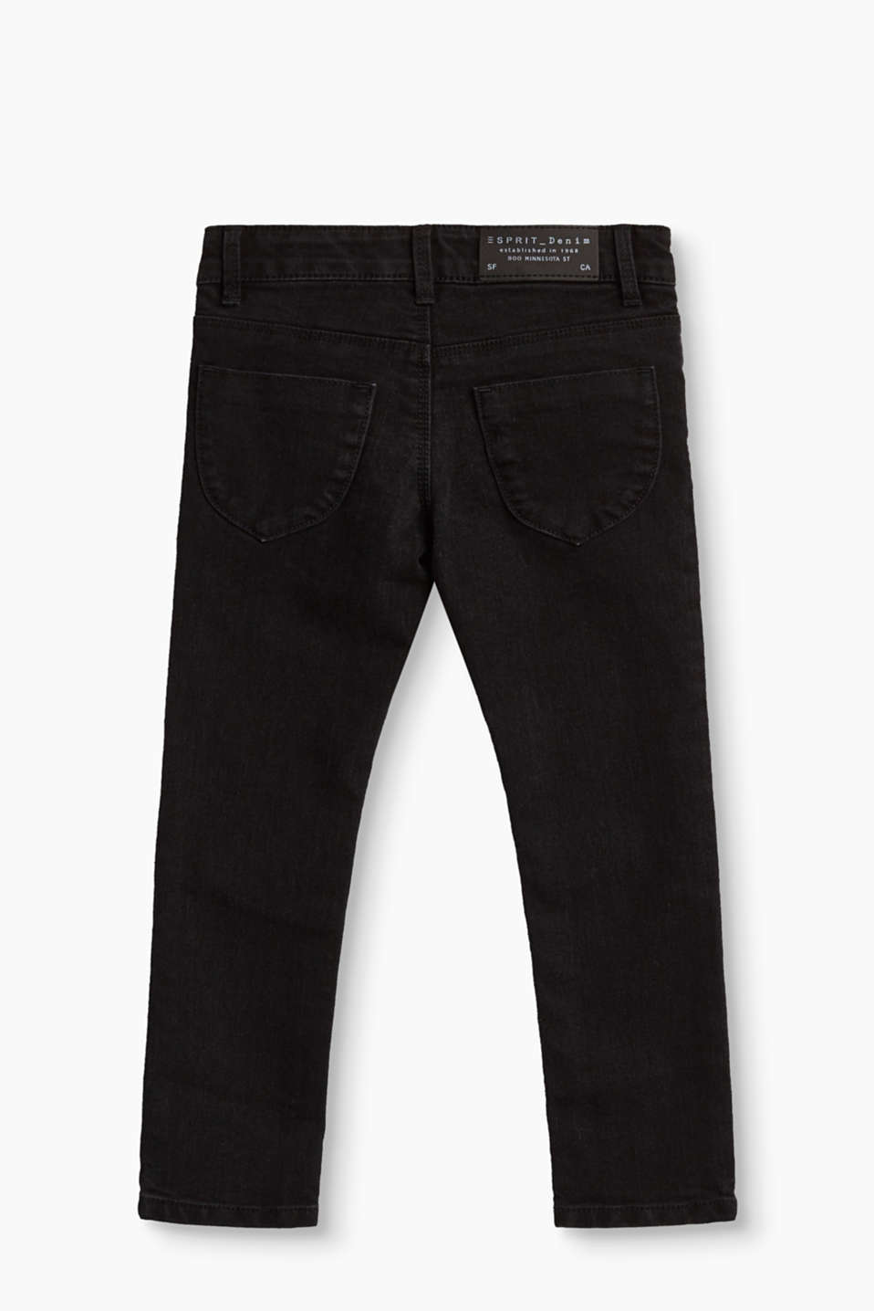 Schwarze Stretch-Denim mit Verstellbund
