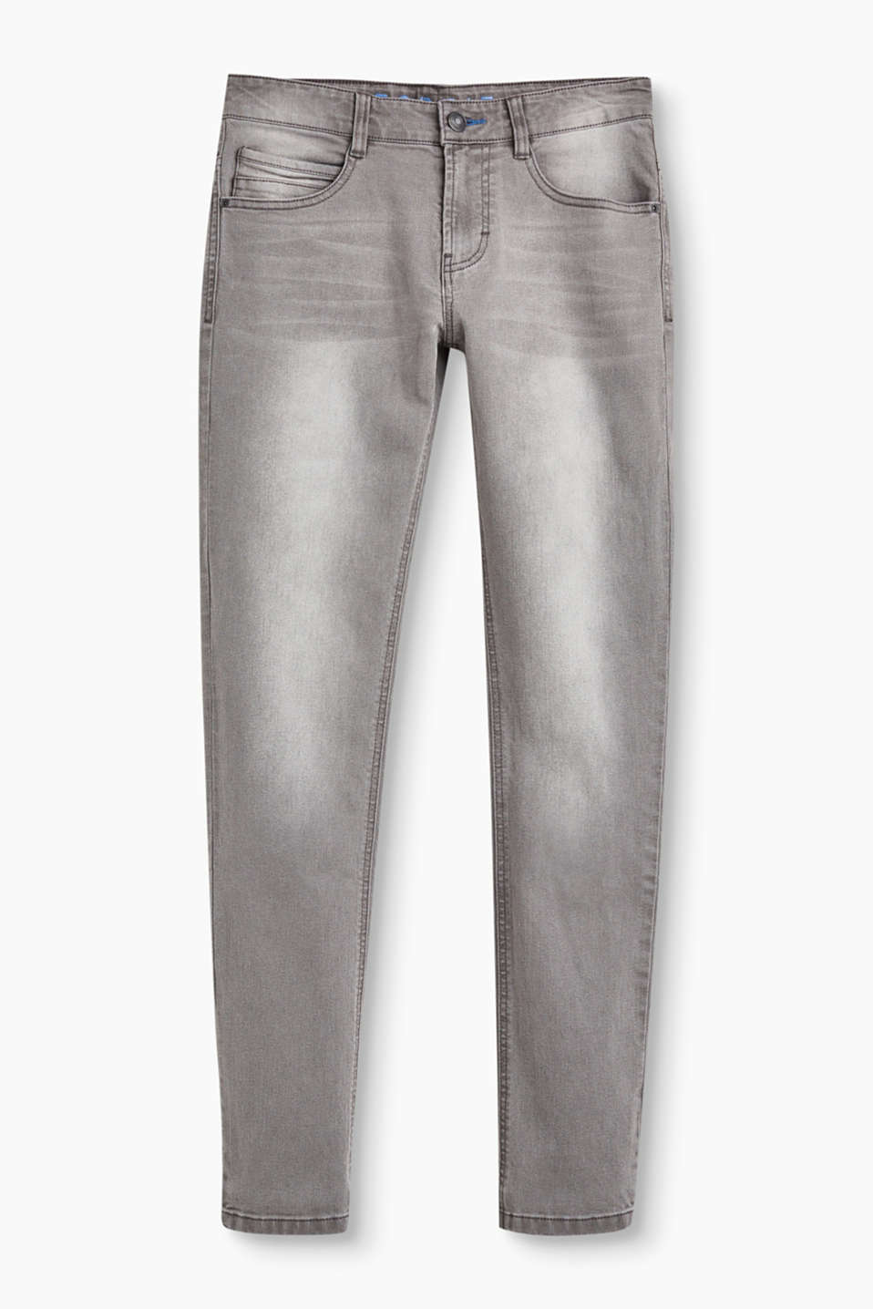 Esprit - Grey stretch jeans, adjustable waist