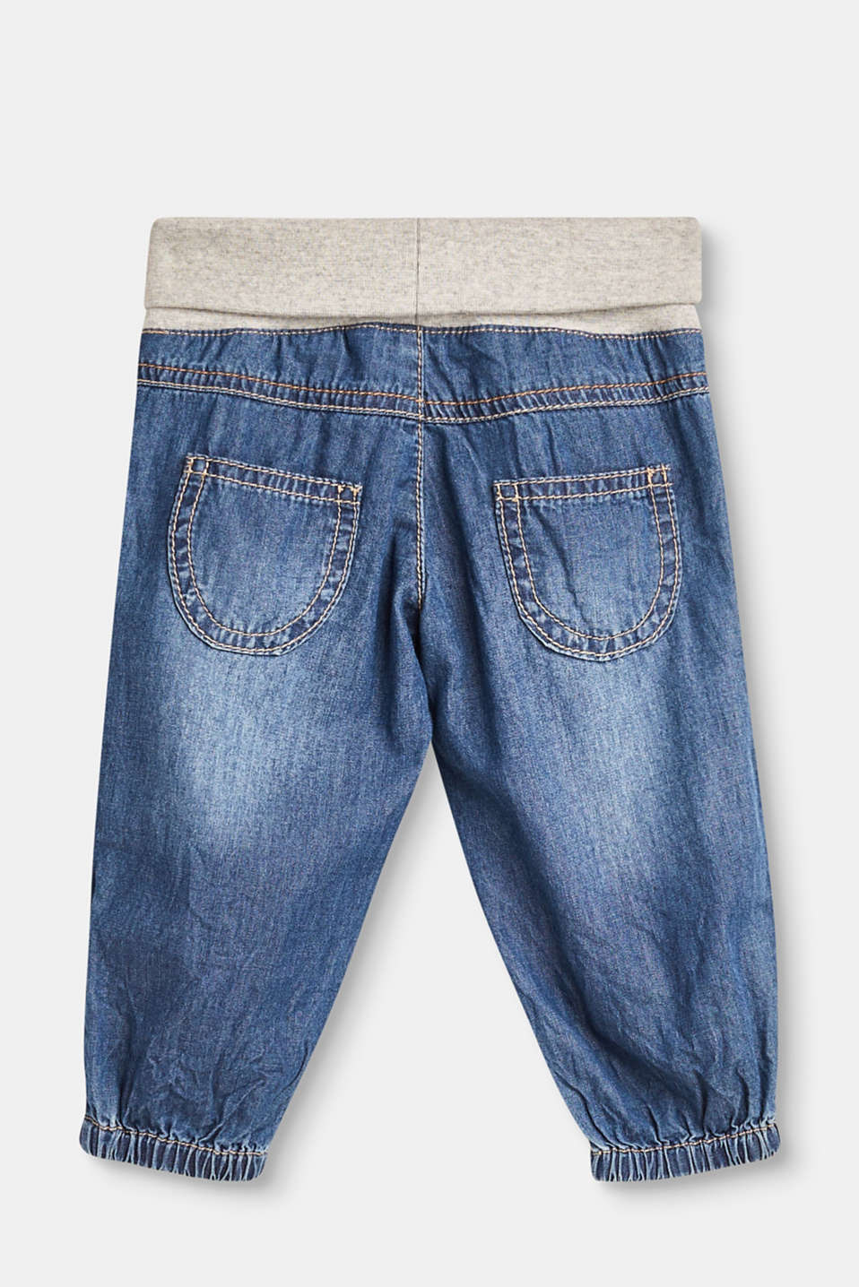Soft jeans with a turn-down waistband