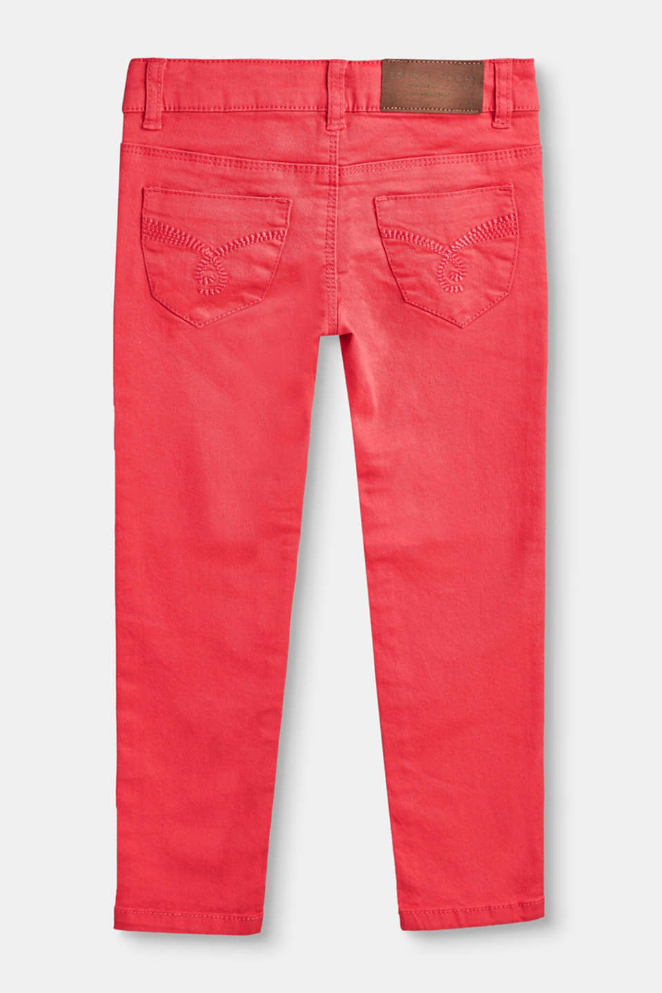 Coloured stretch jeans with adjustable waist