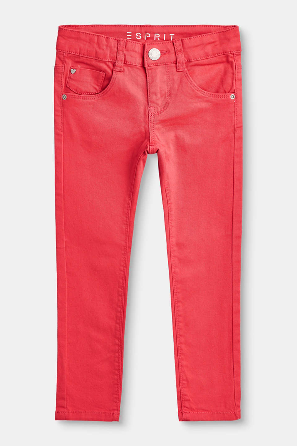 Esprit - Coloured stretch jeans with adjustable waist
