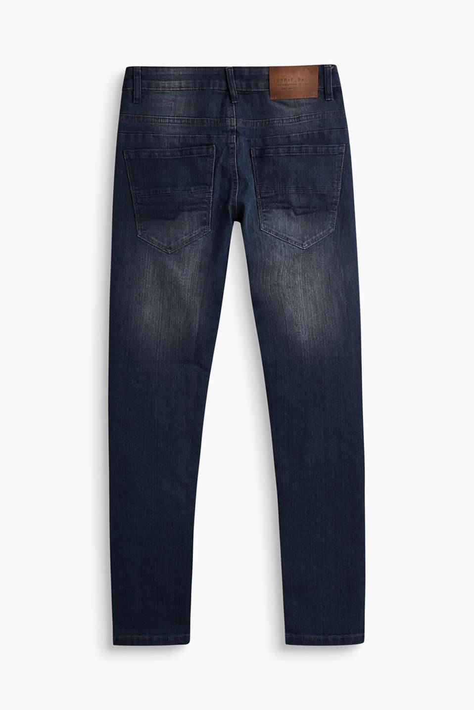 Super-stretchjeans med stone wash