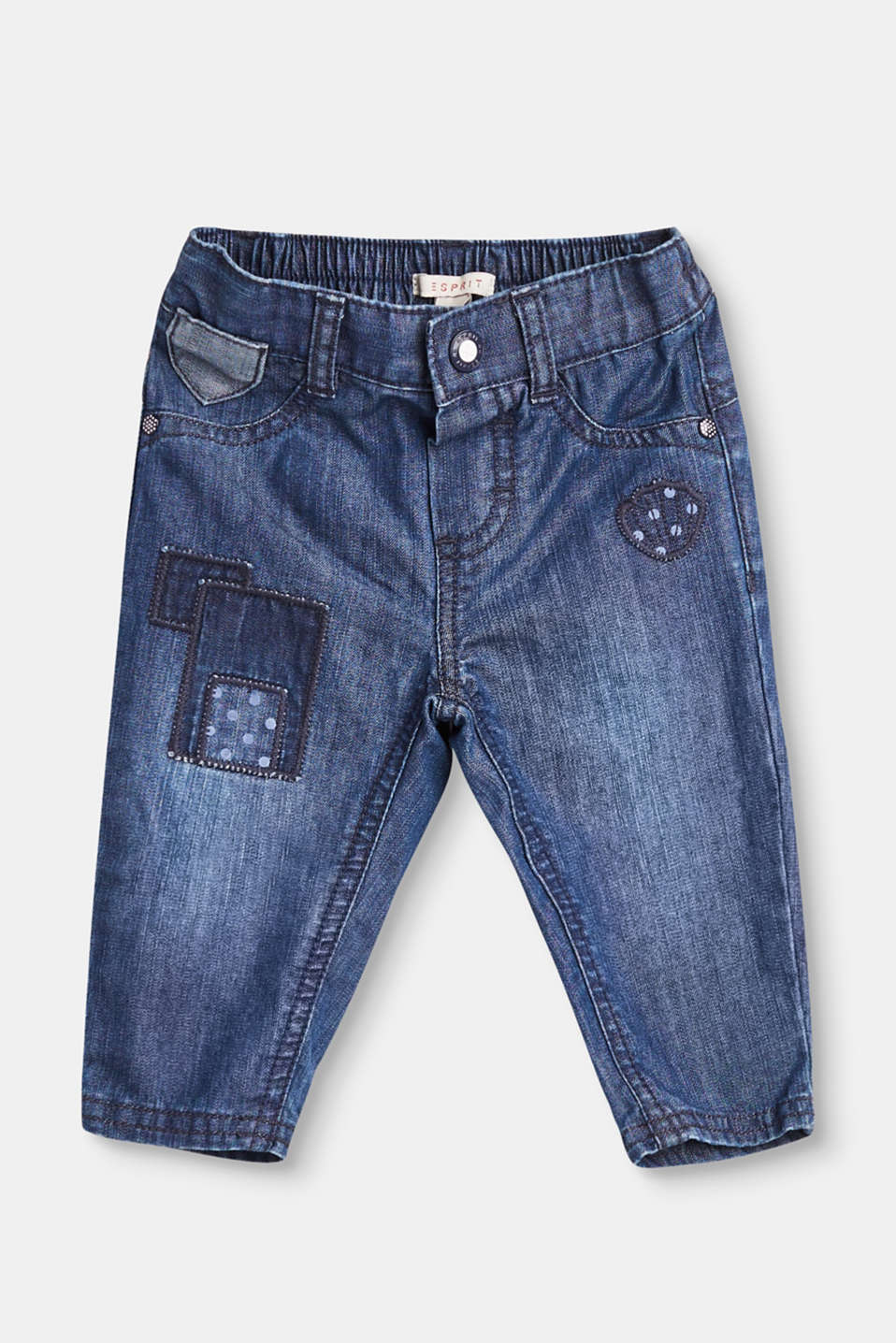Cute in the extreme and comfortable too, these appliquéd jeans are made from comfy, soft denim.