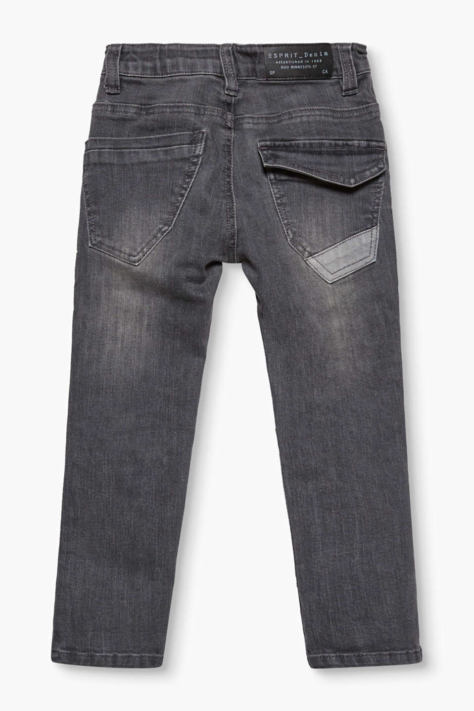 Lightly washed stretch jeans