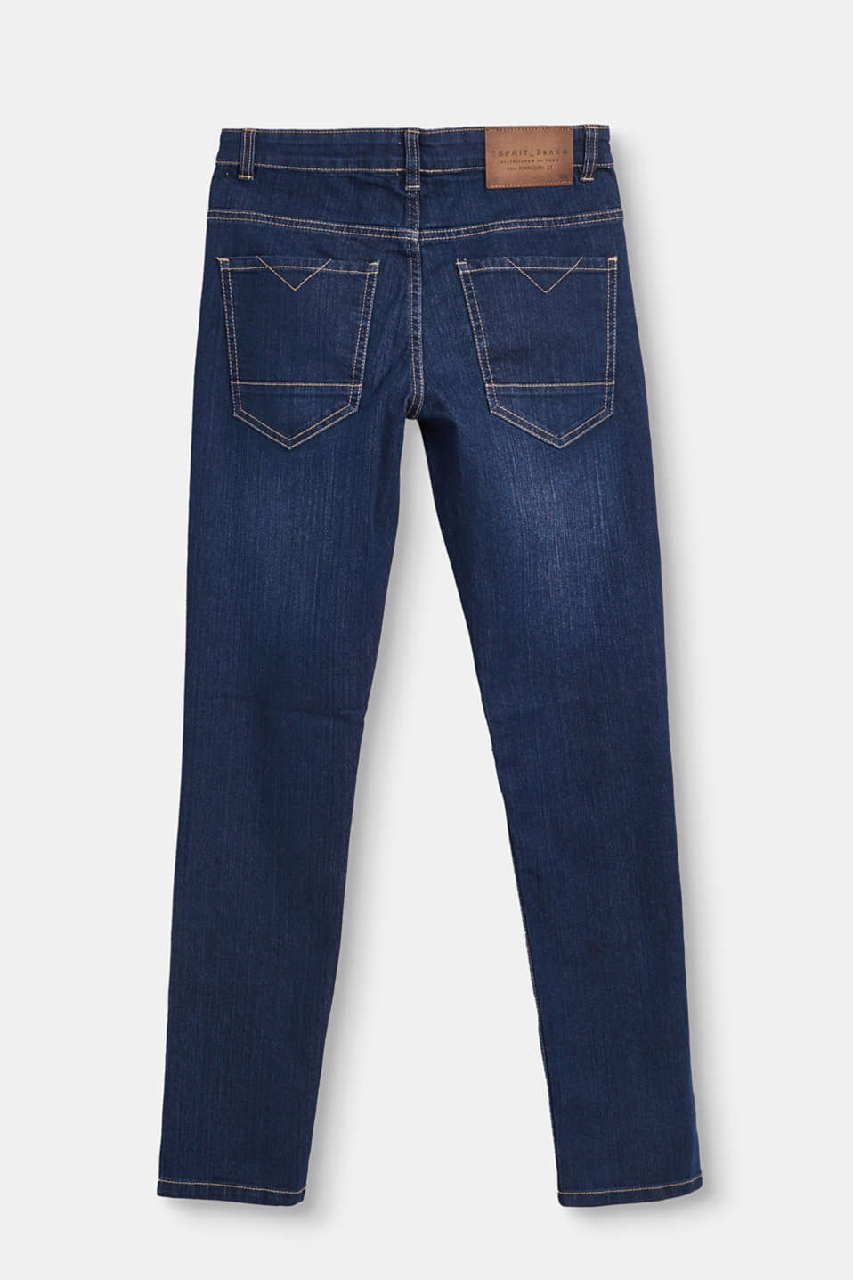 Basic adjustable-waist stretch jeans
