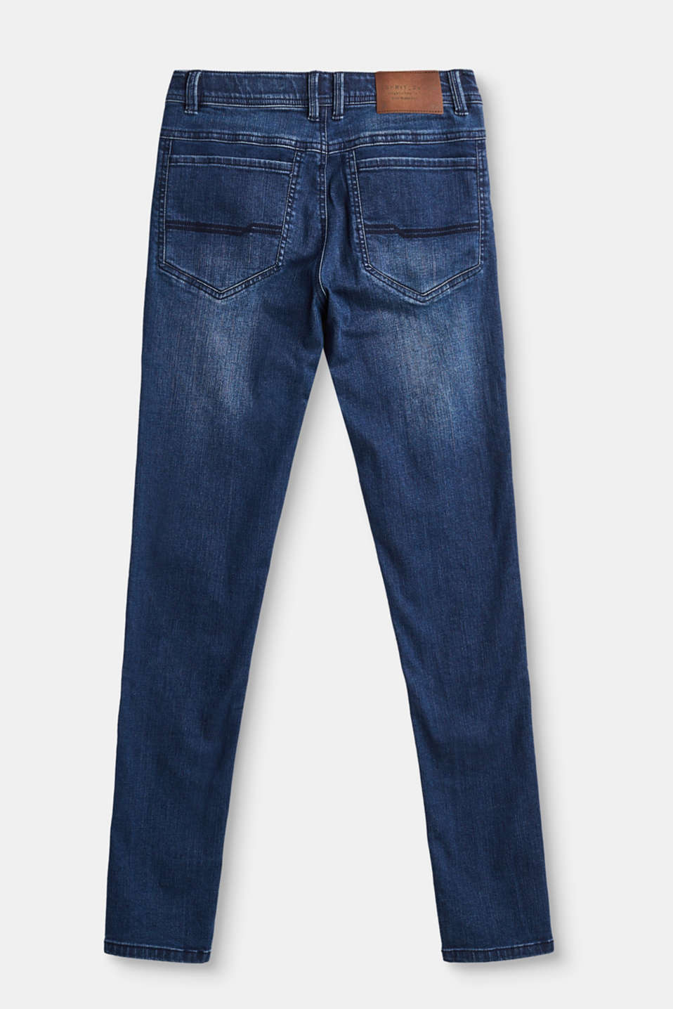 Stretch jeans with a deep crotch