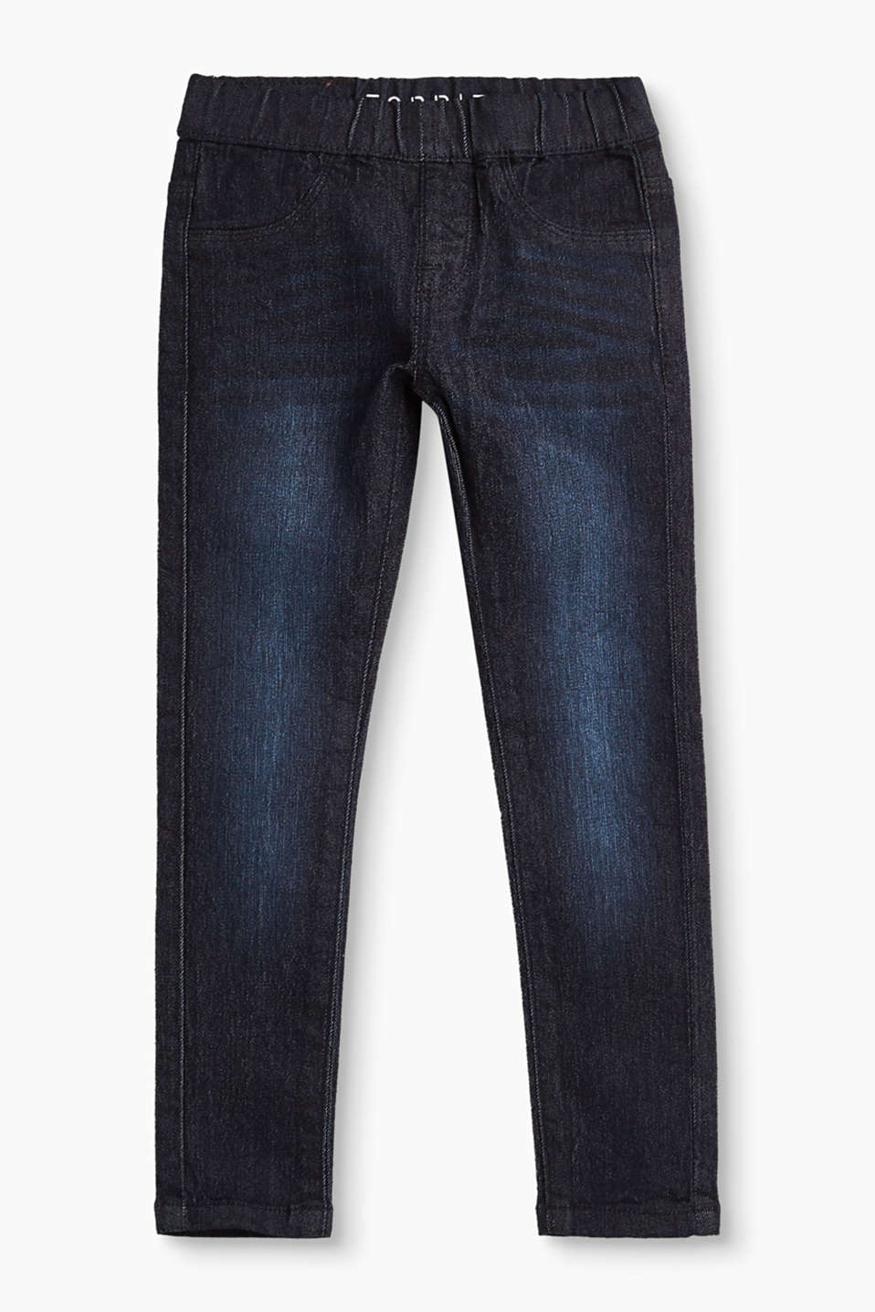 Esprit - Jeggings i mörk denim med stretch