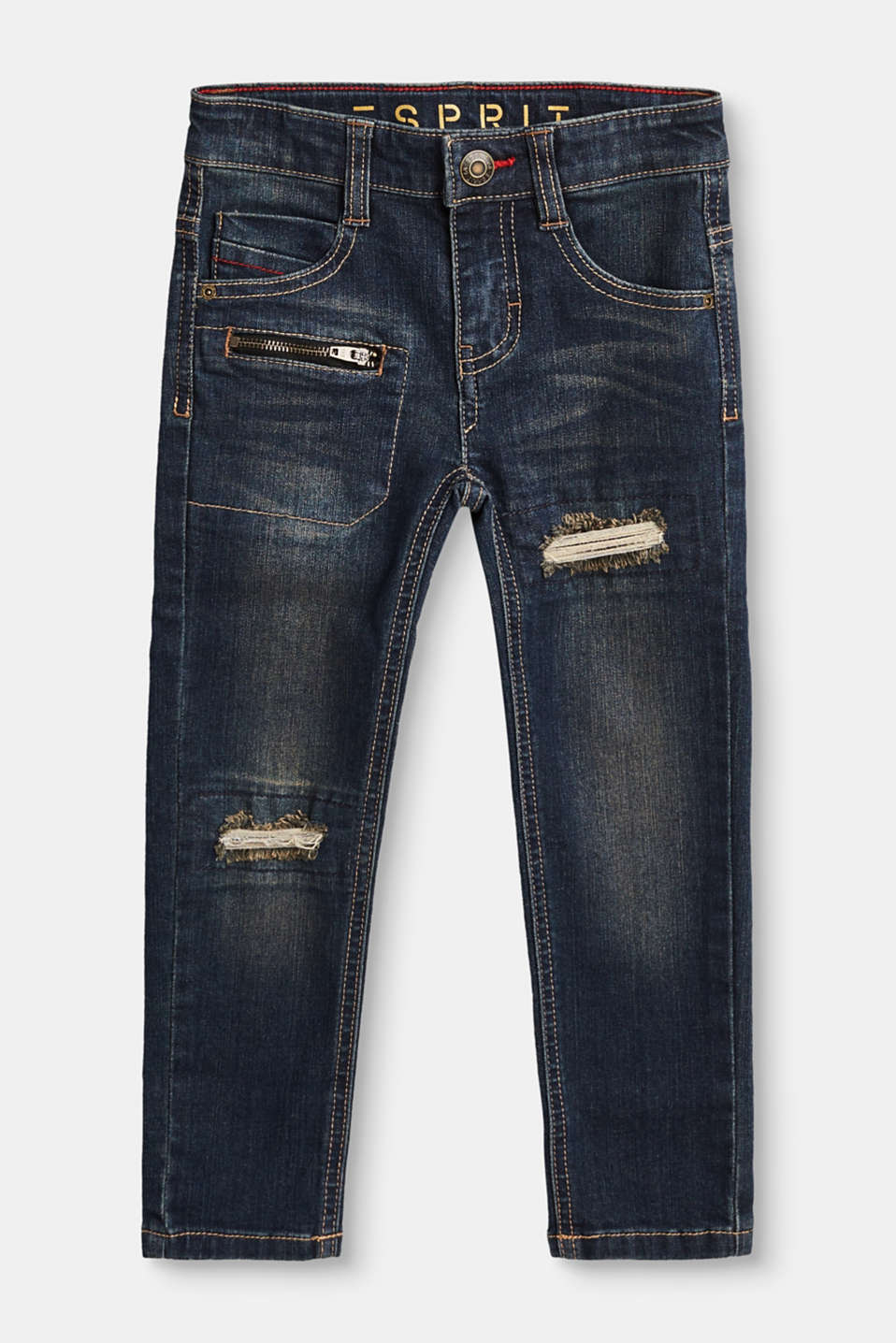Esprit - Destroyed Stretch-Jeans mit Dirty-Effekt