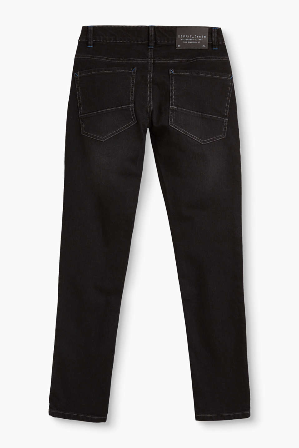 Black jeans with contrasting stitching