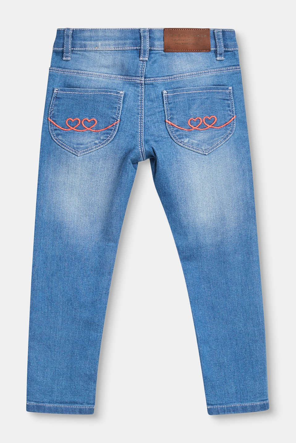 Stretch jeans with a subtle garment-washed finish