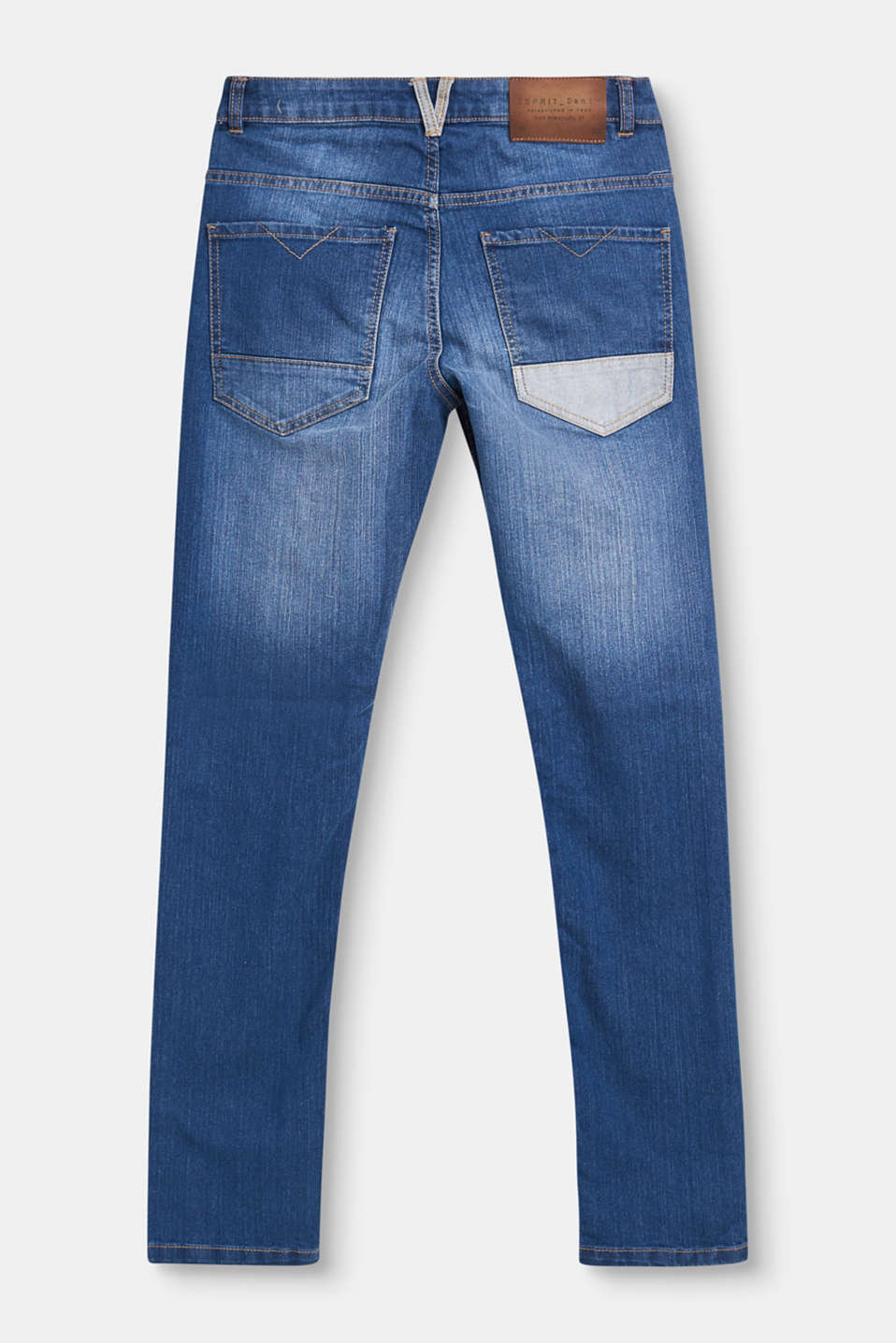 Stretch jeans with adjustable waistband