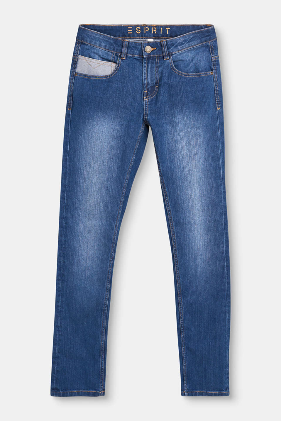 Esprit - Stretch jeans with adjustable waistband