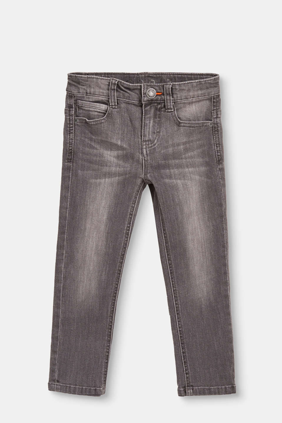 Esprit - Mega stretchy jeans in a light vintage wash