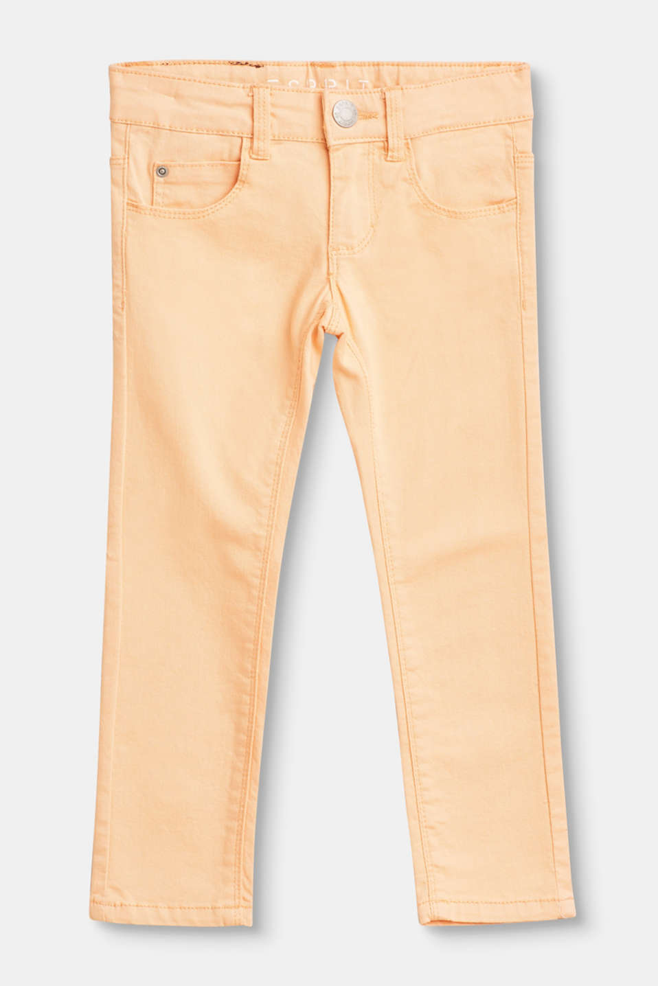 Esprit - Five-pocket trousers in stretch cotton