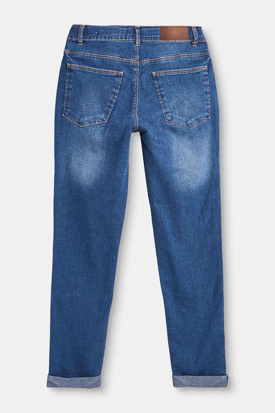 Stretch jeans with fixed turn-ups