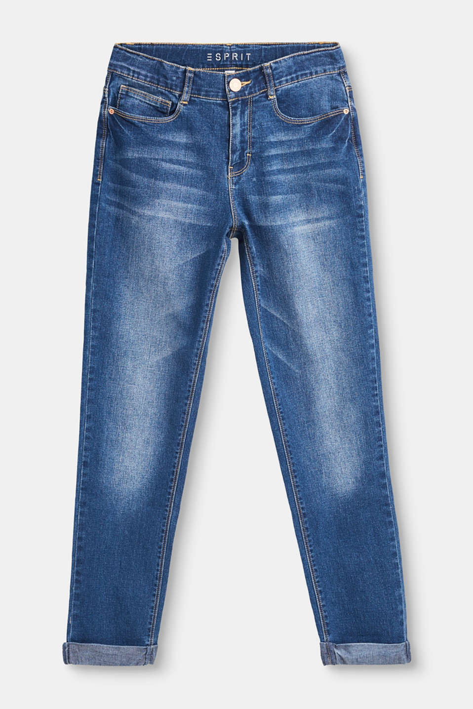 Esprit - Stretch jeans with fixed turn-ups