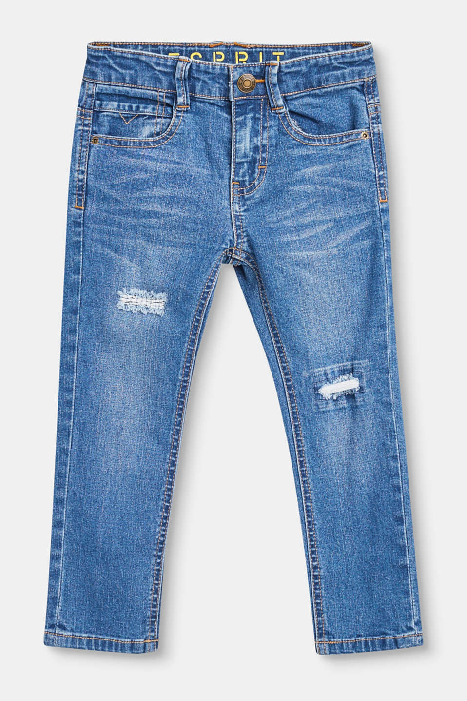 Esprit - Destroyed stretchjeans met verstelbare band