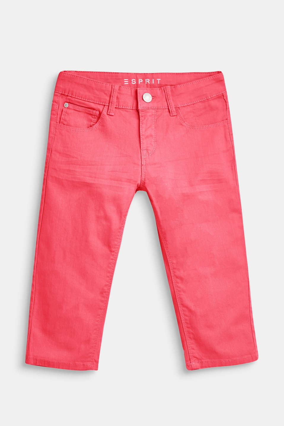 These denim Capri pants in a jazzy, on-trend colour are fantastically eye-catching. Cotton containing stretchy elastane provides ultimate comfort.