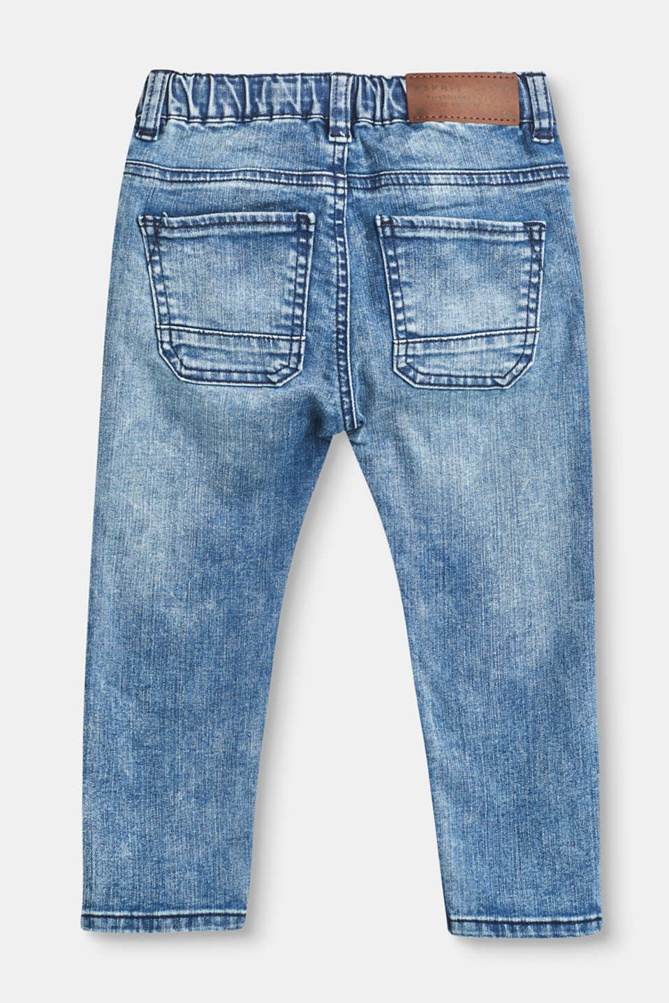 Soft stretch jeans, elasticated waistband