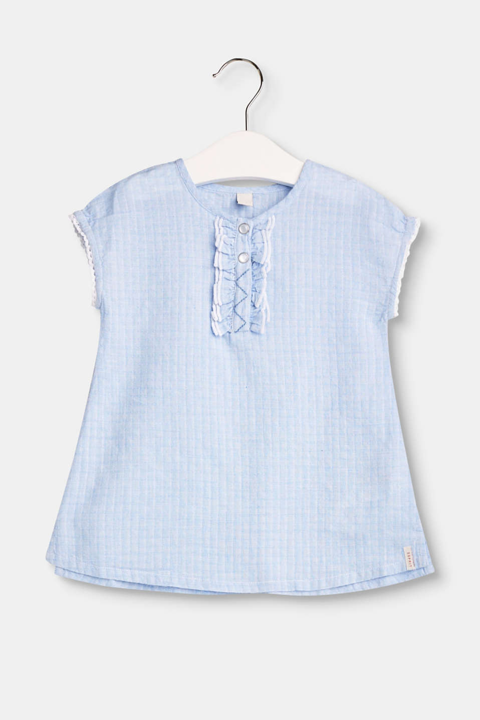 Esprit - Textured cotton dress with frills