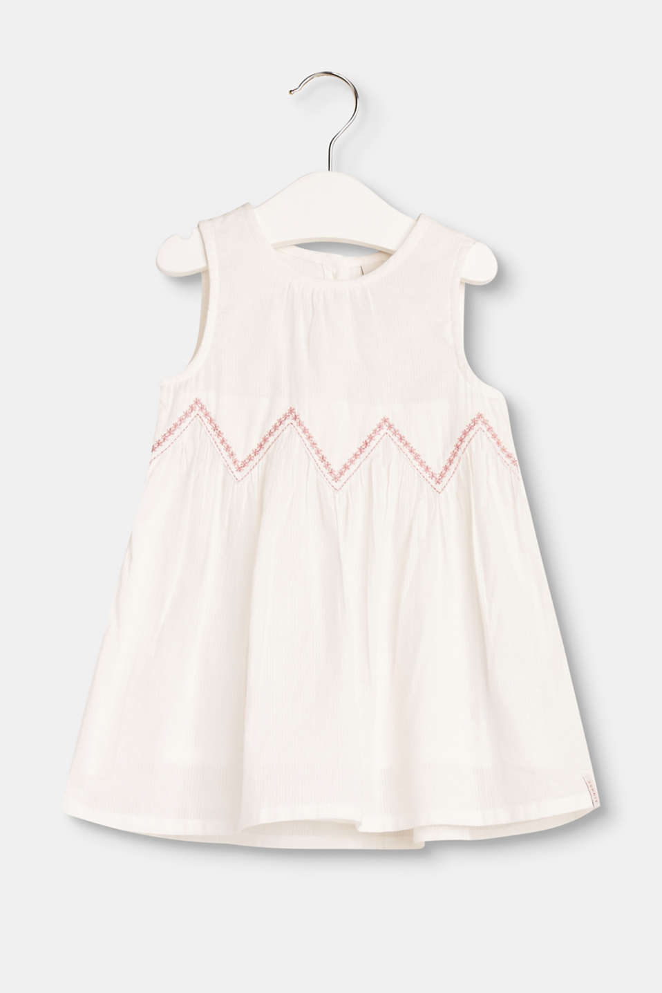 Esprit - Cotton dress with front embroidery