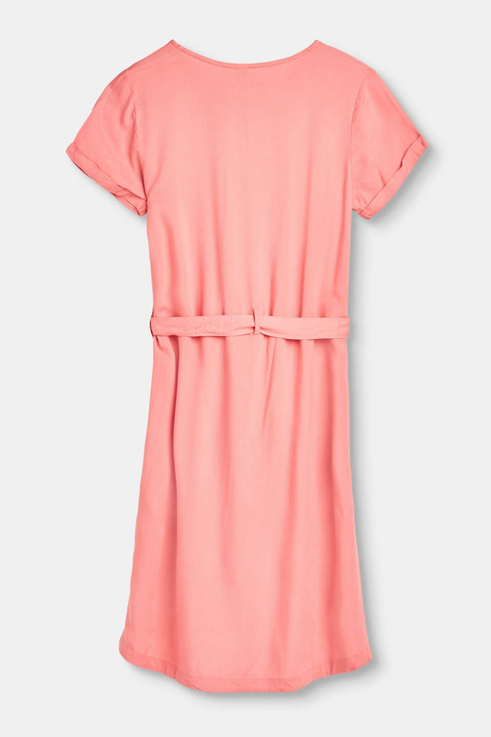 Flowing viscose dress with a belt