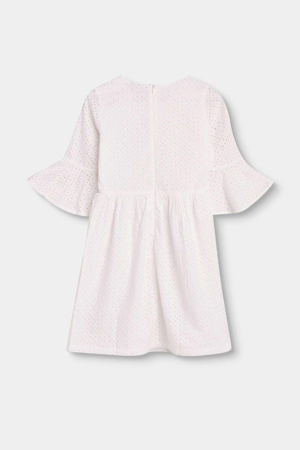 Hippie dress with broderie anglaise, 100% cotton
