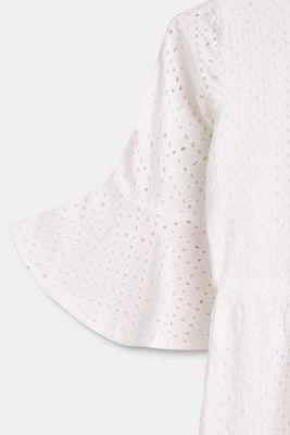 bfa0c8d3d222 Esprit - Hippie-Kleid mit Lochstickerei, 100% Baumwolle im Online ...