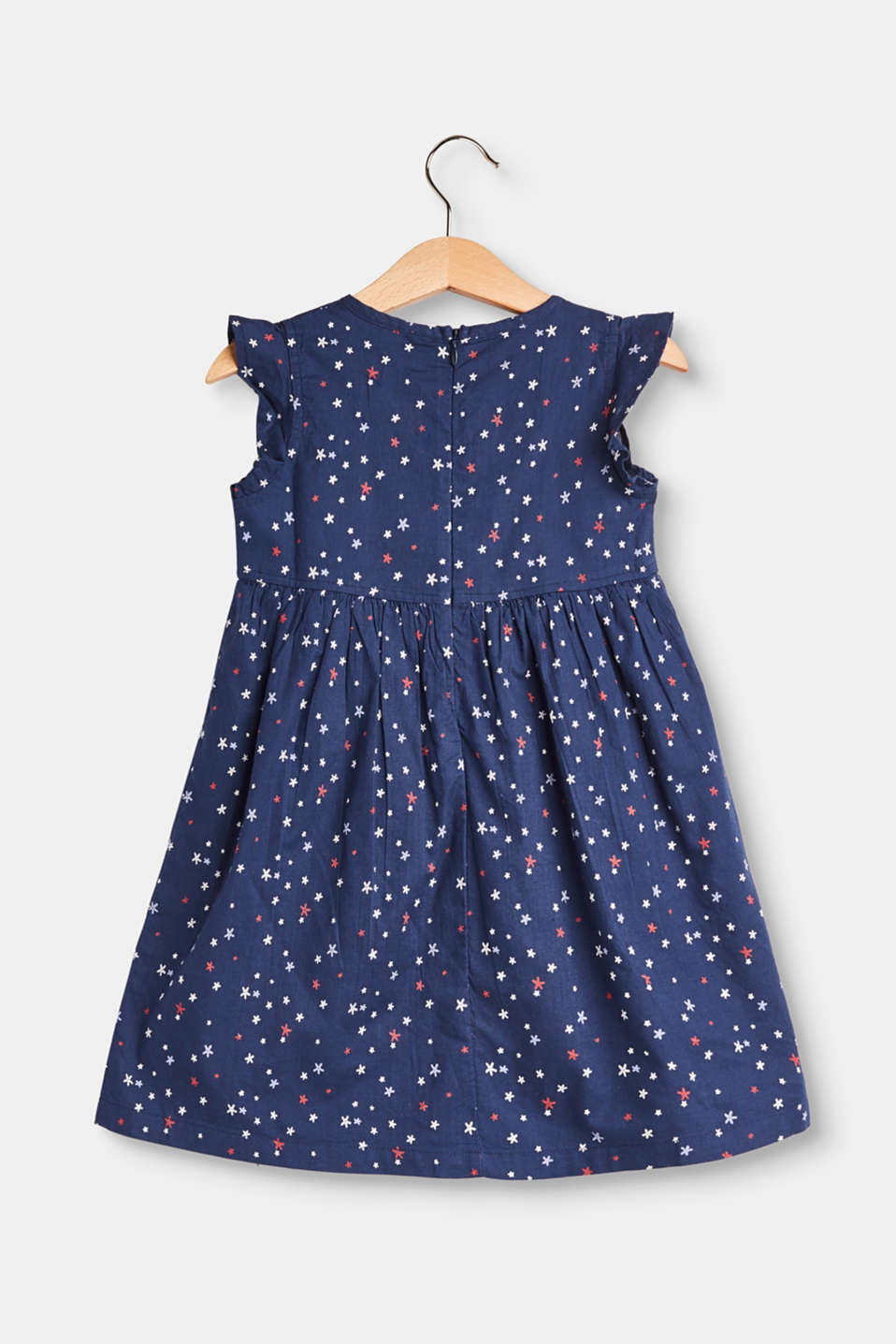 Flared cotton dress with a print