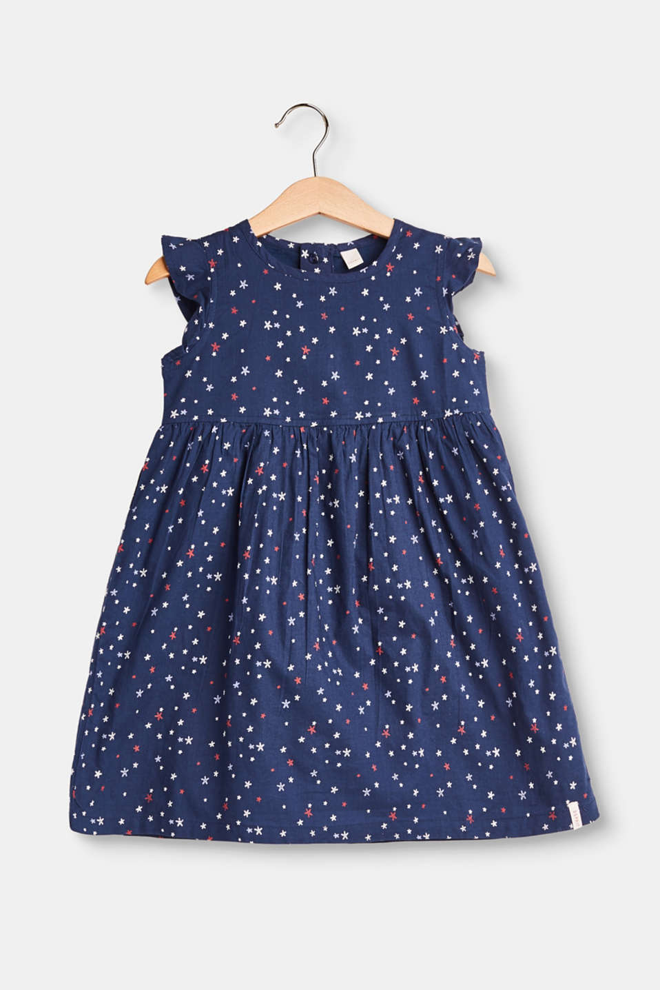 Esprit - Flared cotton dress with a print