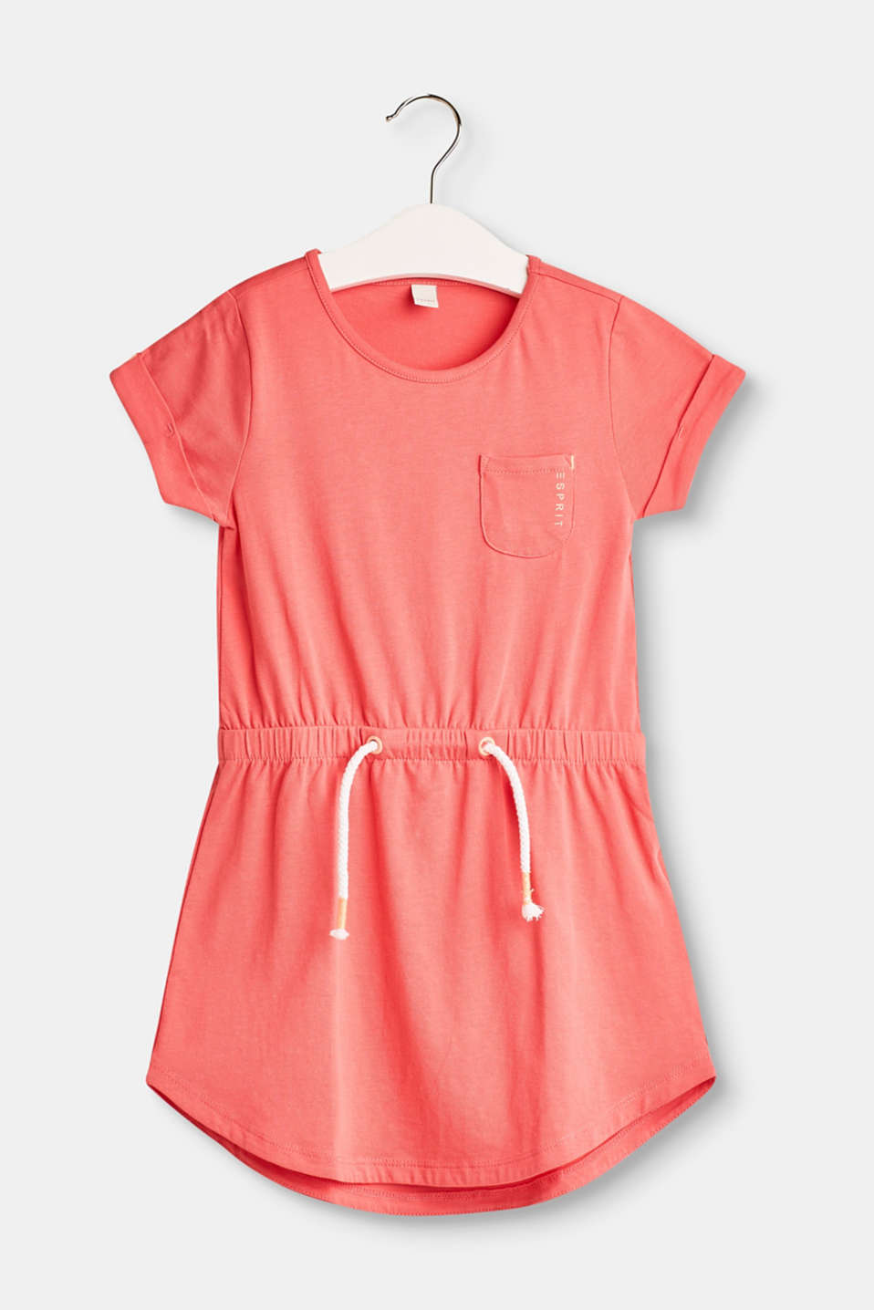 Esprit - Melange jersey dress with neon details