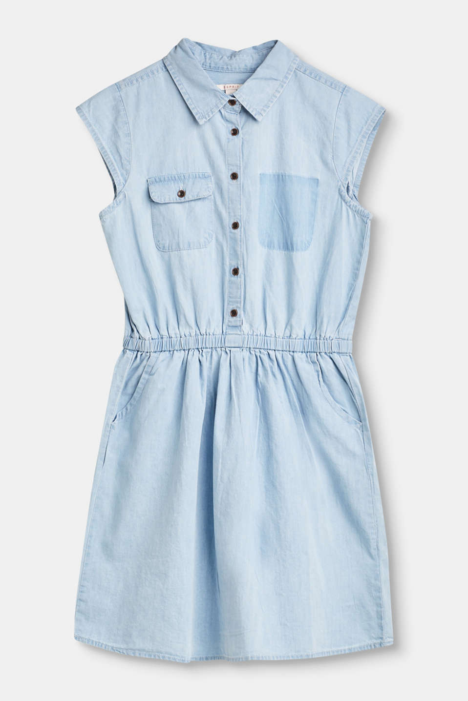 This denim dress is a super-comfy favourite for the summer thanks to the pure cotton fabric and the simple shirt blouse styling.
