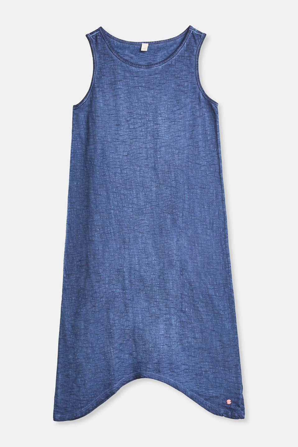 Esprit - Slub jersey jurk met washed-out-effect