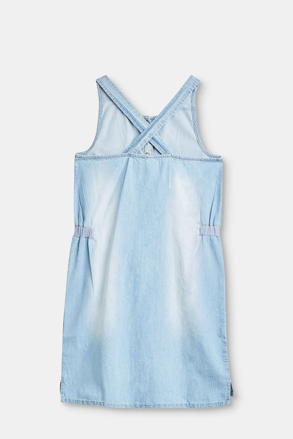 Denim dress in a washed out look